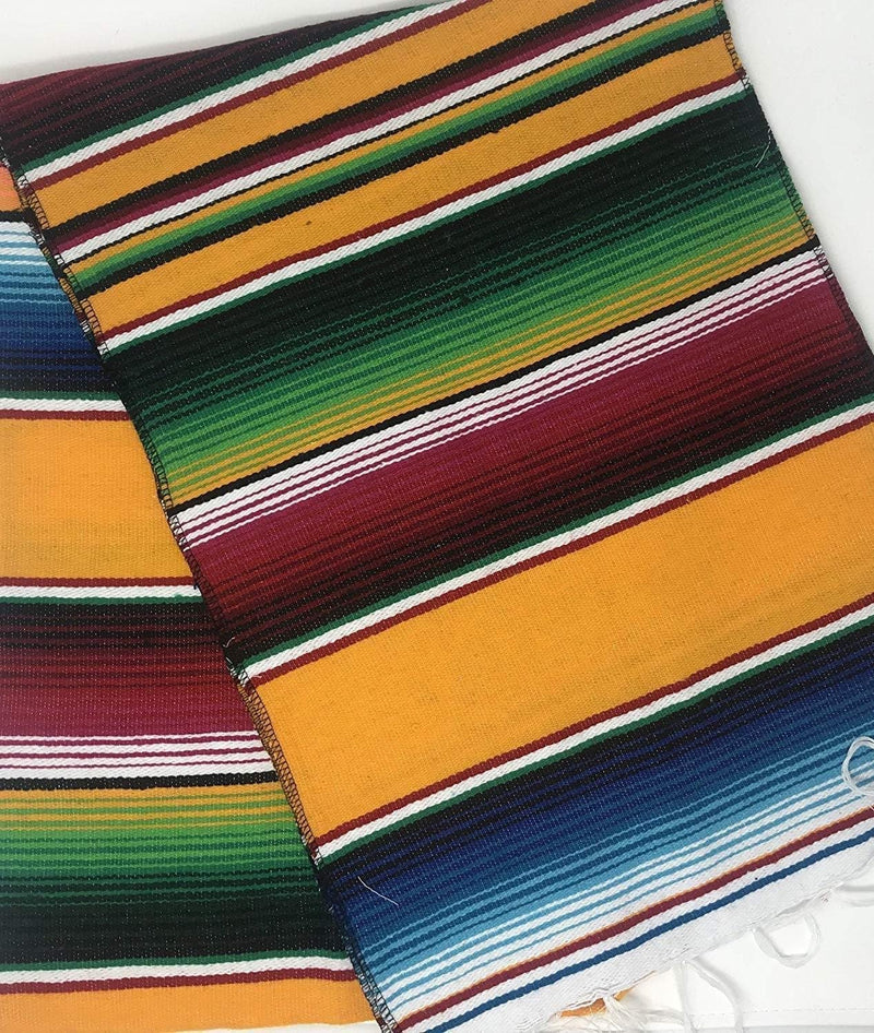 Mexican Sarape - Yellow - Table Runner 14