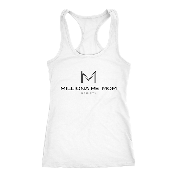 Millionaire Mom Society Racerbank-Black lettering - Go Go Gadget Outlet