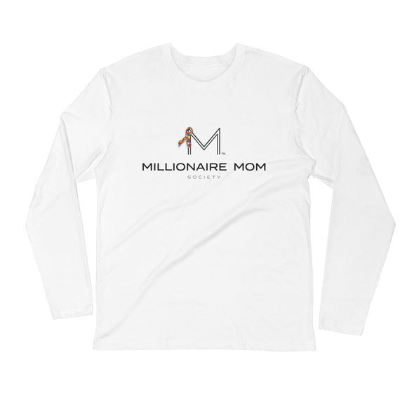 Millionaire Mom Society Long Sleeve Fitted Crew-Autism Support