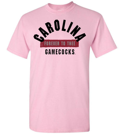 Official Ncaa University Of South Carolina Fighting Gamecocks Usc Cocky Sc Forever To Thee Short-Sleeve T-Shirt - 63M-Sc Light Pink / S Men