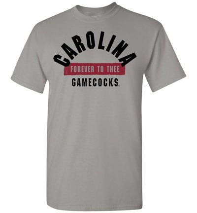 Official Ncaa University Of South Carolina Fighting Gamecocks Usc Cocky Sc Forever To Thee Short-Sleeve T-Shirt - 63M-Sc Gravel / S Men -