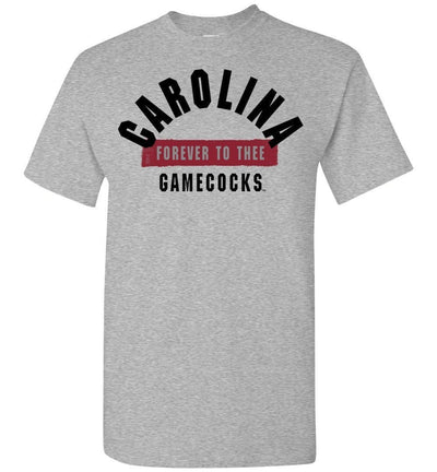 Official Ncaa University Of South Carolina Fighting Gamecocks Usc Cocky Sc Forever To Thee Short-Sleeve T-Shirt - 63M-Sc Sports Grey / S Men