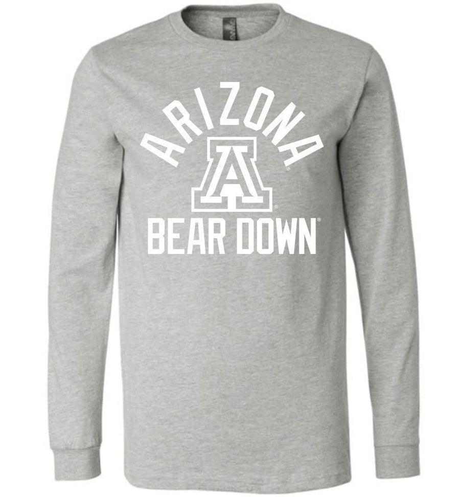 Official NCAA Venley University of Arizona Wildcats U of A Wilber Wildcat BEAR DOWN! Long Sleeve T-Shirt - 08ua-1