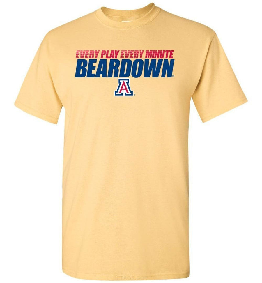 Official NCAA Venley University of Arizona Wildcats U of A Wilber Wildcat BEAR DOWN! Short-Sleeve T-Shirt - uofa2468-c