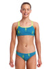 Funkita Ripple Effect Criss Cross Two Piece - Girls