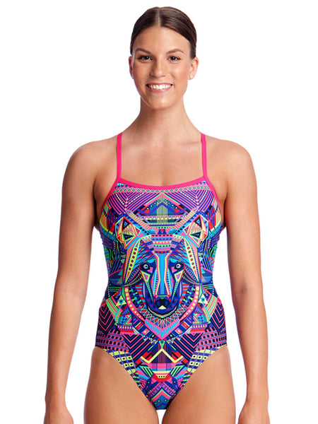 Funkita Wolf Pack Single Strap One Piece - Ladies