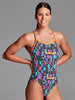 Funkita Secret Code Diamond Back One Piece - Ladies