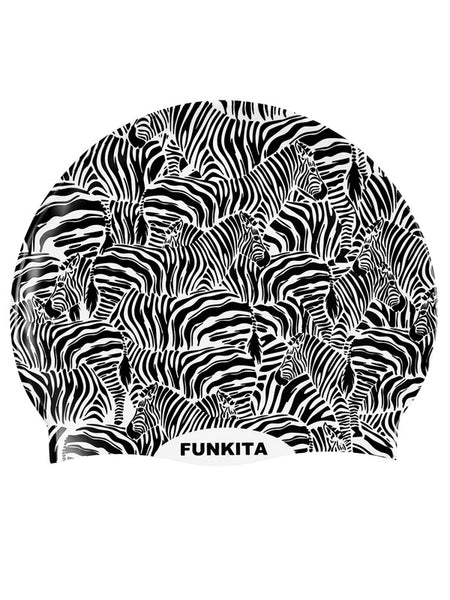 Funkita Silicon Swim Cap - Zebra Crossing