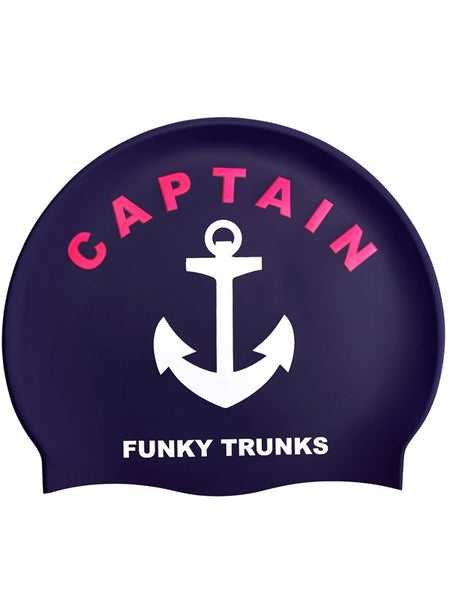 Funky Trunks Silicone Swim Cap - Captain Funky