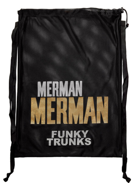 Funky Trunks Mesh Gear Bag - Golden Merman