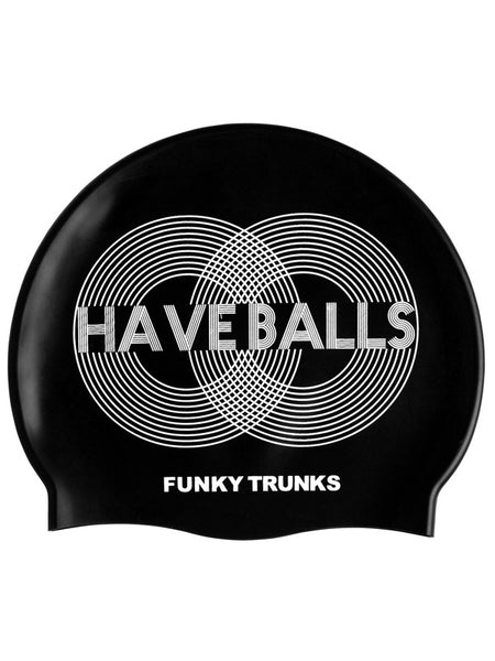 Funky Trunks Silicone Swim Cap - Have Balls
