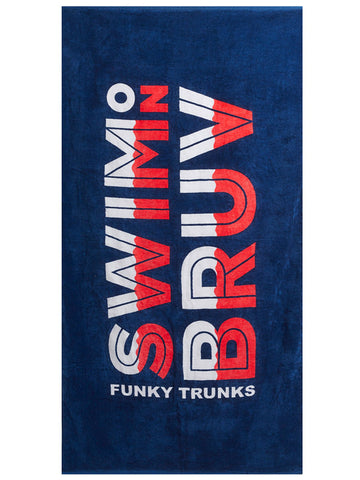 Funky Trunks Towel - Swim on Bruv