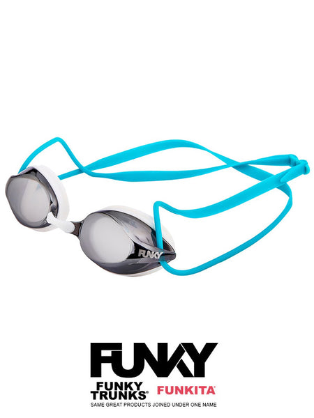 FUNKY Training Machine Goggles - White Wash Mirrored