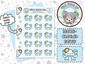 ICONS003- Cloudy Bows Weather tracking