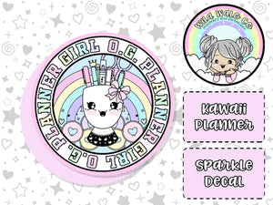 Kawaii Planner- Sparkle Overlay O.G. Planner Girl Decal