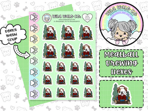 wilawaloco Meatball the english bulldog Seattle Tuxedo fall planner sticker icons