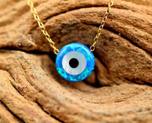 Load image into Gallery viewer, 🧿 Evil Eye Opal Necklace