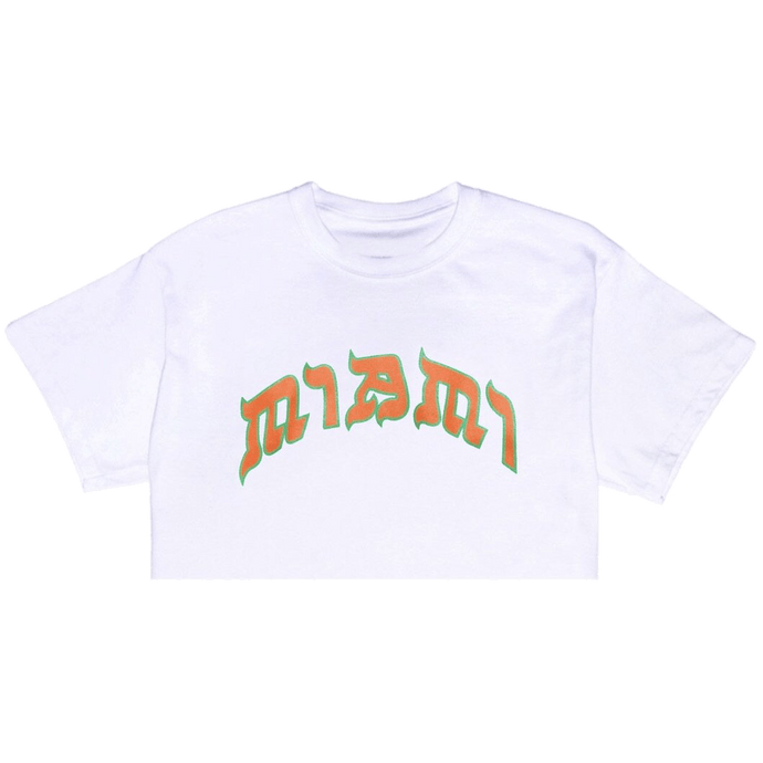 "THE ""U"" <br> MIAMI CROP TOP 💚🧡"