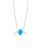 Load image into Gallery viewer, HAMSA BOLT NECKLACE