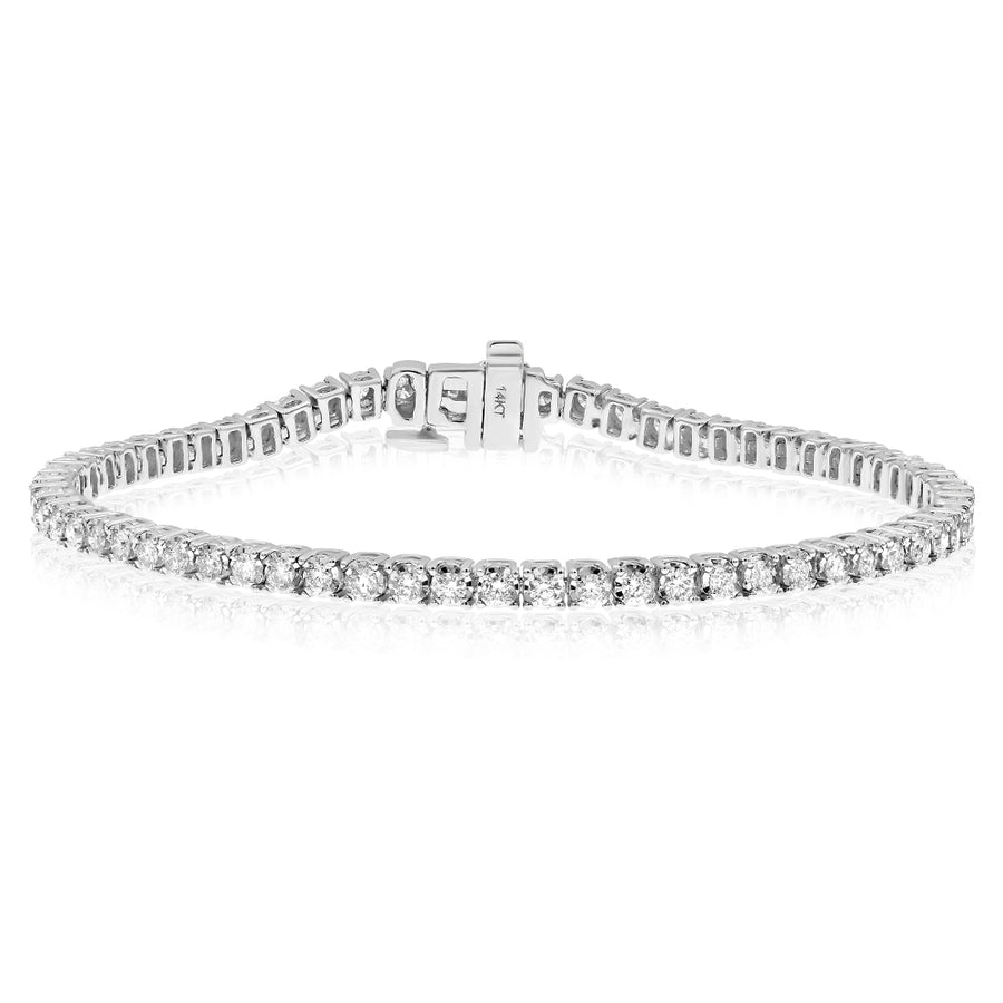 14k White Gold Diamond Tennis Bracelet 2.00ctw