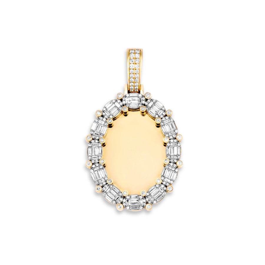 14k Yellow Gold Diamond Memory Pendant 3.50ctw