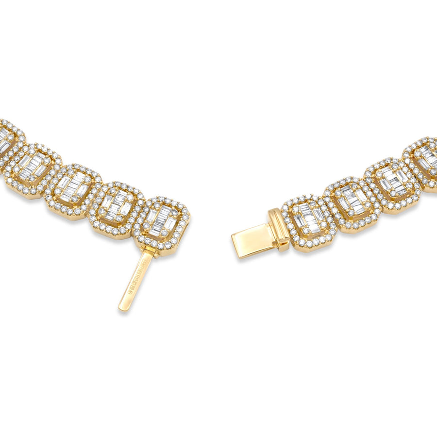 14k Yellow Gold Baguette Diamond Chain 23.20ctw