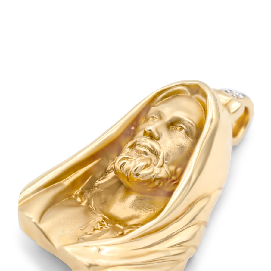 14k Solid Yellow Gold Jesus Head