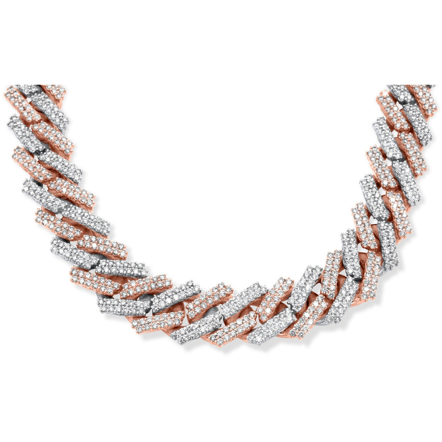 14k Two-Tone Diamond Cuban Chain