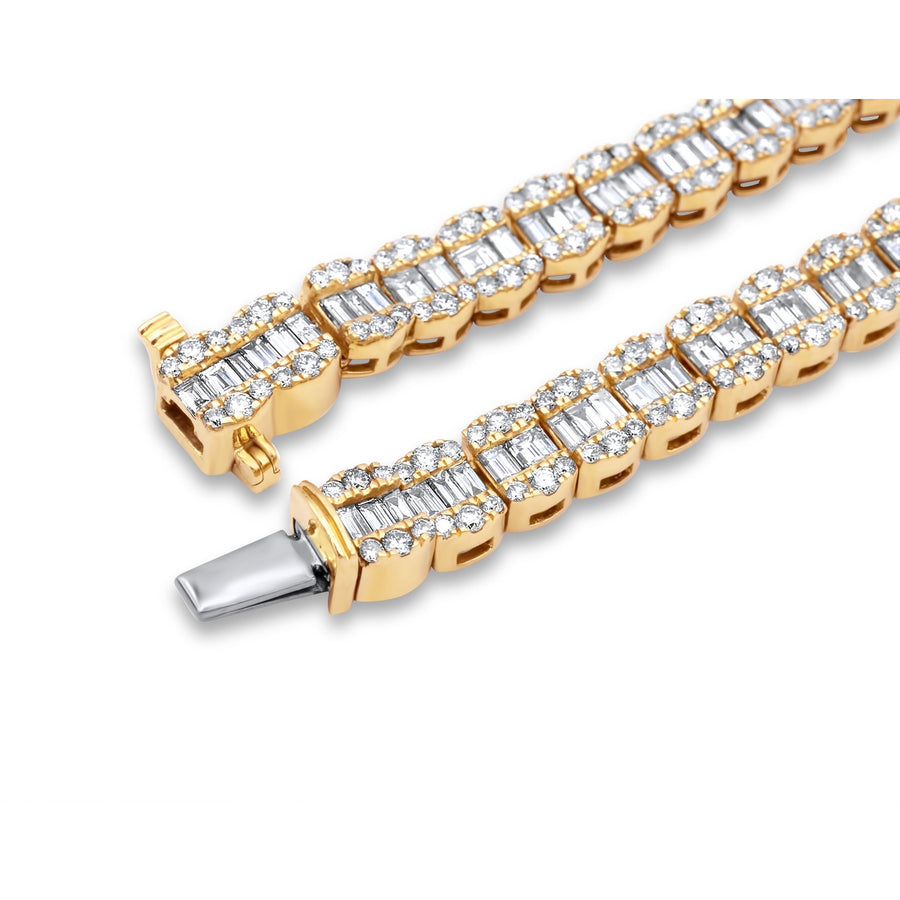 14k Yellow Gold Baguette Chain 30.38ctw