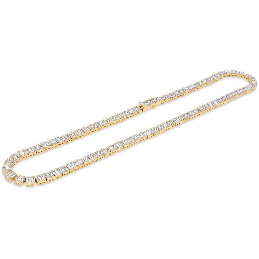 14k Yellow Gold Baguette Diamond Chain 24.04ctw