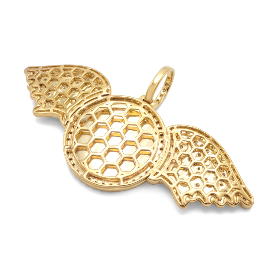 10k Yellow Gold Wing Picture Pendant 2.85ctw