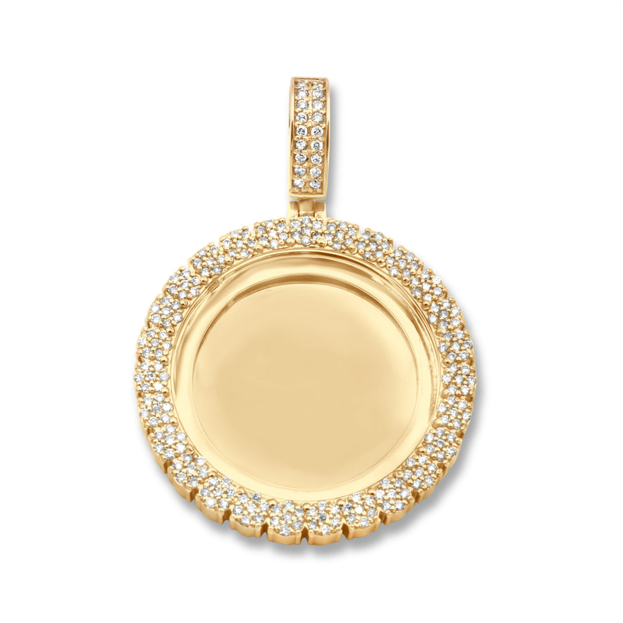 14k Yellow Gold Memory Pendant 2.26ctw
