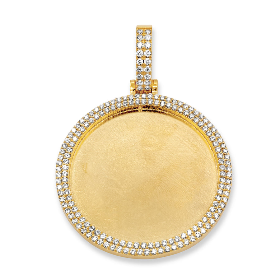 10K Yellow Gold Picture Pendant 3.26ctw