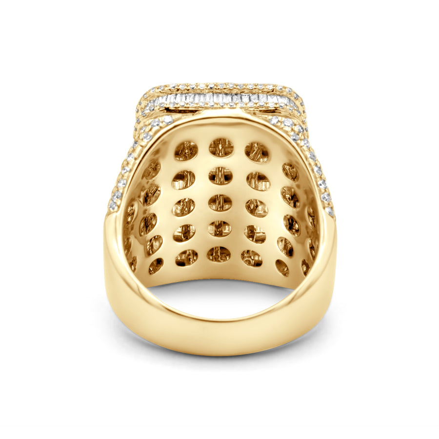 14k Yellow Gold Baguette Diamond Ring 6.30ctw