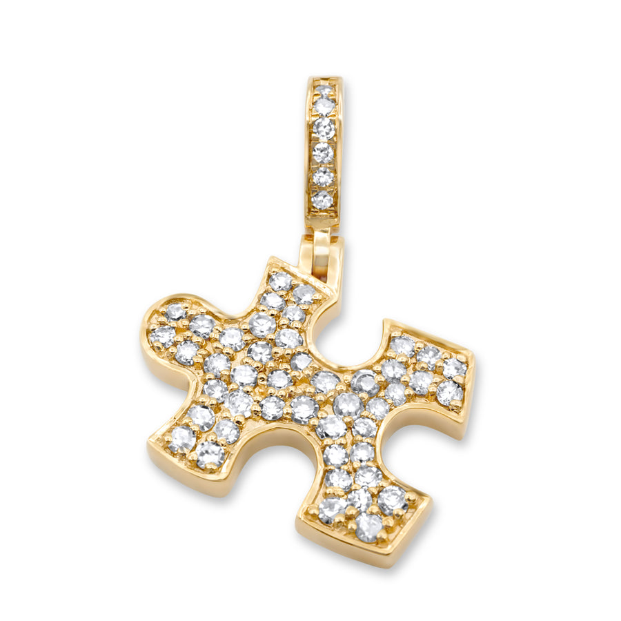 14k Yellow Gold Puzzle Pendant 0.47ctw