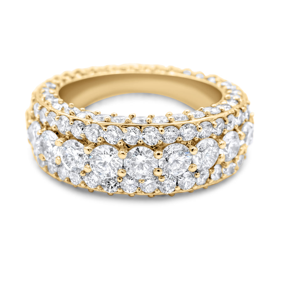 14k Yellow Gold Diamond Eternity Band 9.86ctw