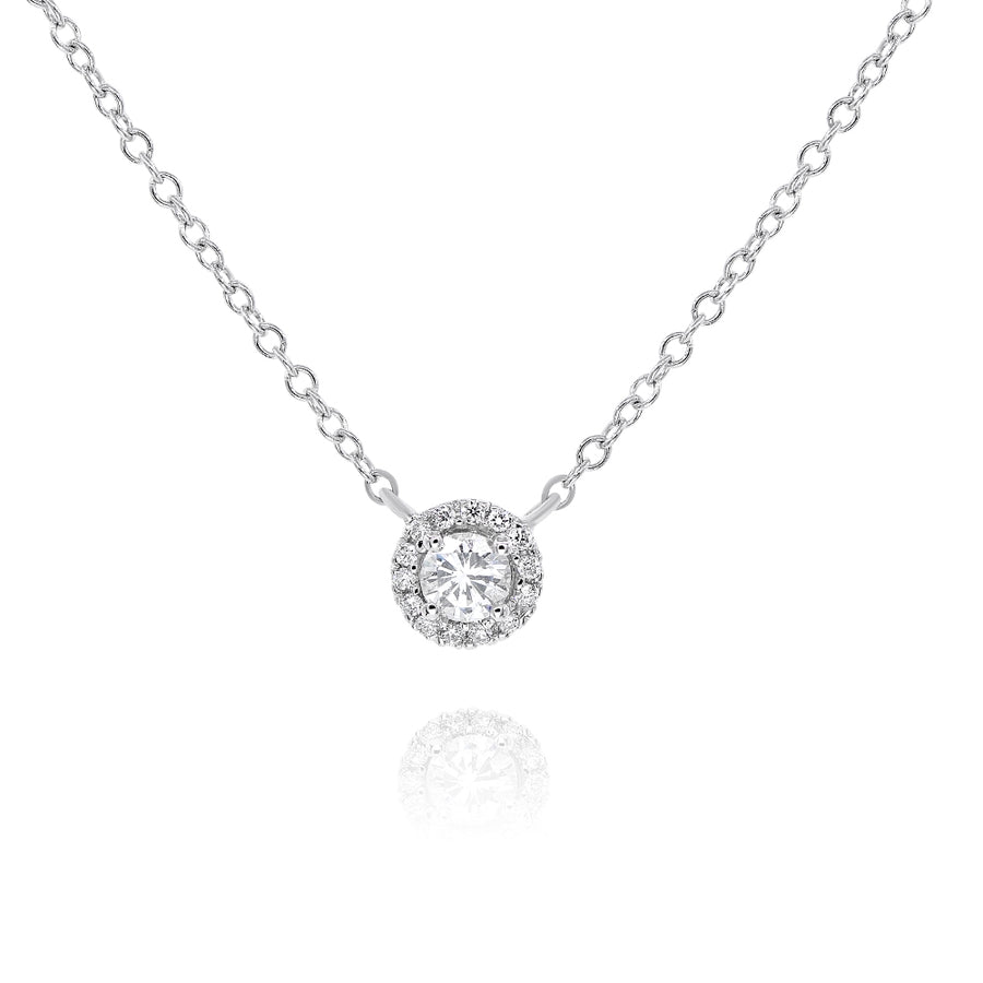 14k White Gold Solitaire Diamond Charm 0.35ctw