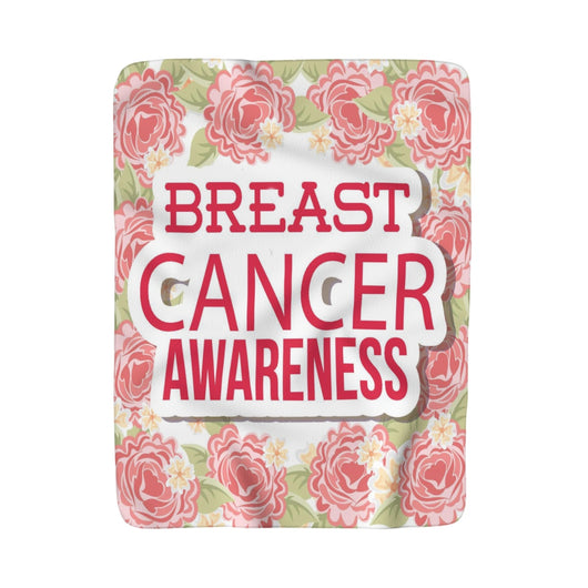 Breast Cancer Awareness Sherpa Fleece Blanket - Fun With Chemo