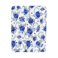 Blue Blue Roses Sherpa Fleece Blanket - Fun With Chemo