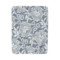 Lace Over Denim Sherpa Fleece Blanket - Fun With Chemo