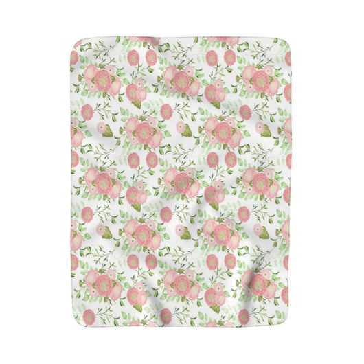 Lovely Floral Sherpa Fleece Blanket - Fun With Chemo