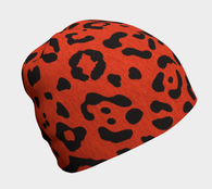 Red Hot Leopard Beanie - Fun With Chemo