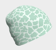 Mint Green Animal Print Beanie - Fun With Chemo