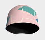 Mid Century Modern Art Pink Beanie - Fun With Chemo