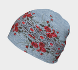 Embroidered Roses on Denim Beanie - Fun With Chemo
