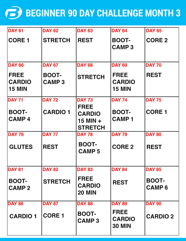 Burton Nutrition 90 Day Challenge Workouts and Create a Meal Plan!