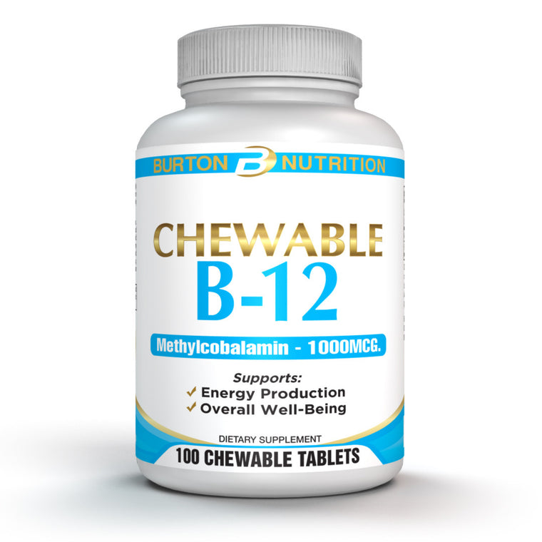 Vitamin B-12 Chewable 1000mcg Natural Cherry Flavor