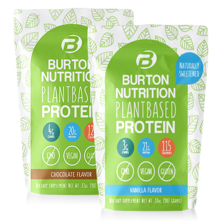 Burton Nutrition GET FIT Vegan Protein Combo 1 Chocolate & 1 Vanilla /
