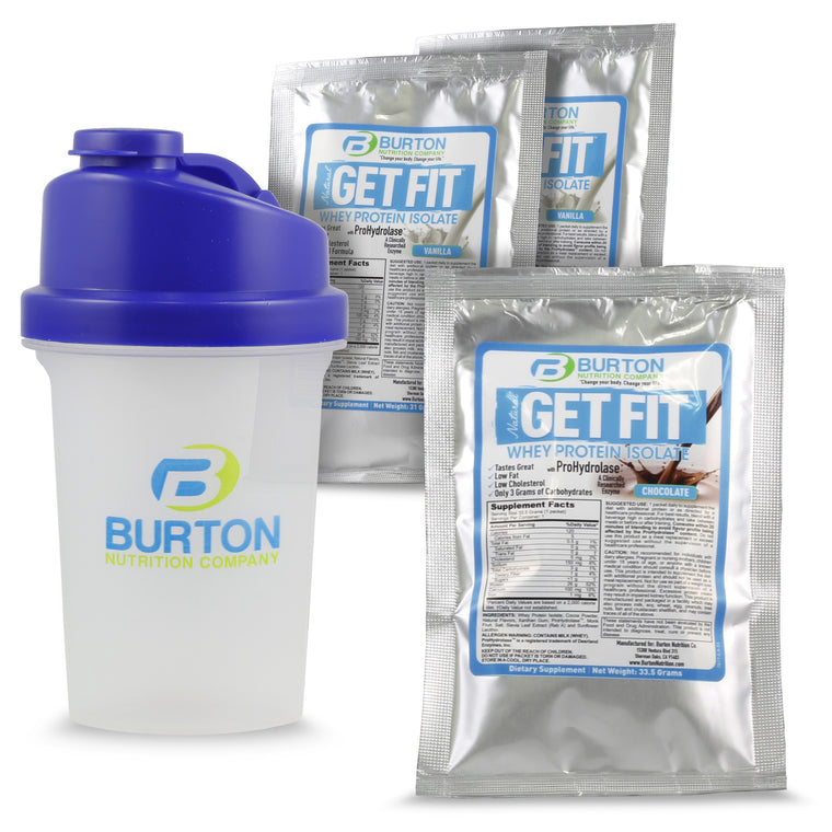 Burton Nutrition Sampler + Shaker Cup usually ships within 7 days