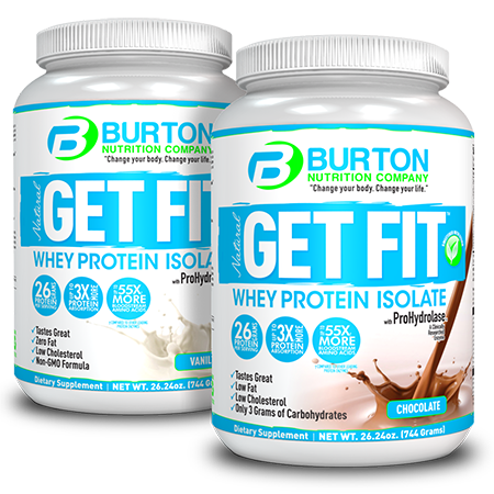 Burton Nutrition Get Fit PURE WHEY Combo 1 Chocolate & 1 Vanilla